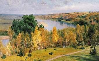 Сочинение по картине Поленова «Золотая осень», 3 класс